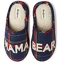 Dearfoams Women's Family Collection Mama Bear Plaid Clog Slipper