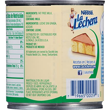 Amazon.com : Nestle La Lechera Fat Free Sweetened Condensed Milk, 14 oz : Grocery & Gourmet Food