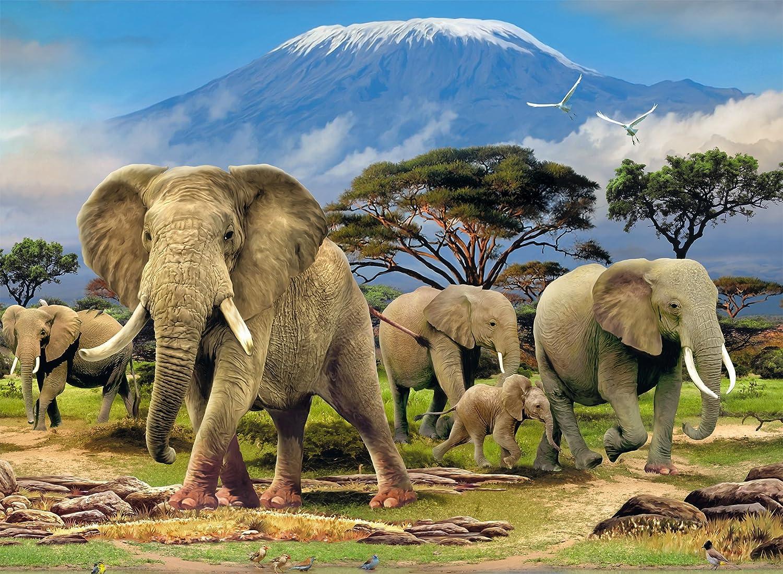 500-Piece Elephants Jigsaw Puzzle