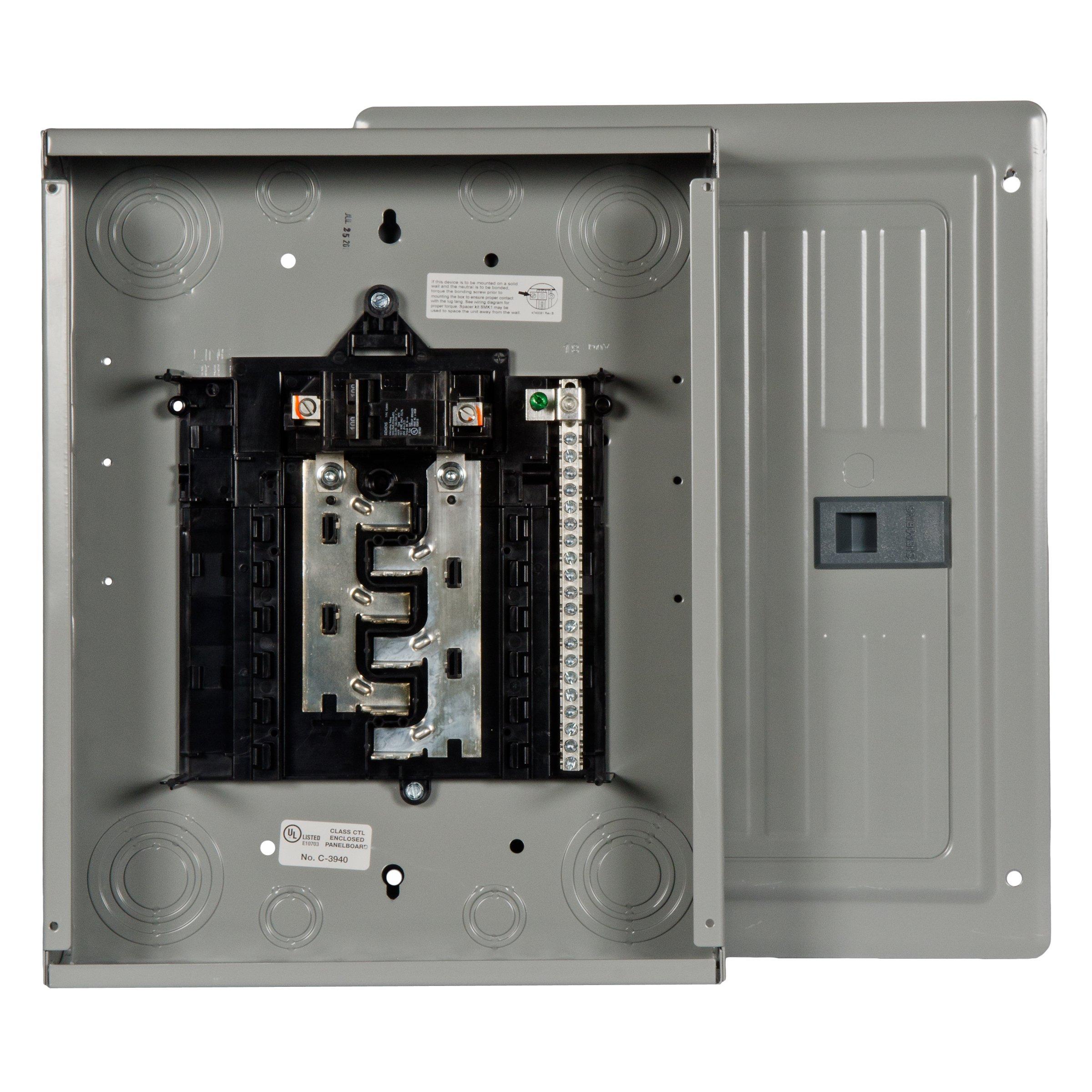 Siemens 12 Space, 24, Circuit, 100 Amp, Main Breaker, Indoor Load Center