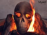 Myard Fireproof Imitated Human Fire Pit Skull Gas