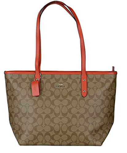 21eee389b3 Coach REVERSIBLE CITY TOTE IN SIGNATURE Coated Canvas Womens Bag (one size)