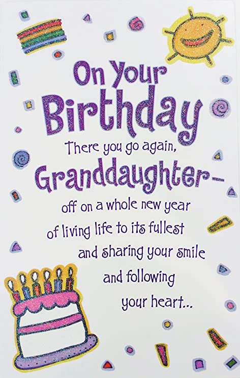 Amazon Com On Your Birthday Granddaughter Greeting Card A Whole
