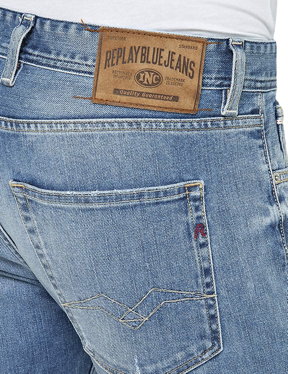 Replay Mens Straight Fit Grover Jeans