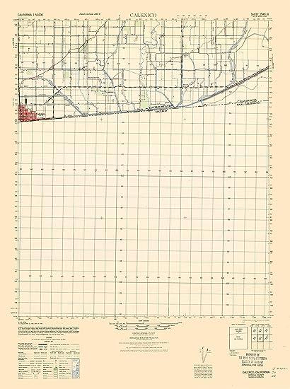 Amazon Com Topographic Map Calexico California Sheet Army 1944