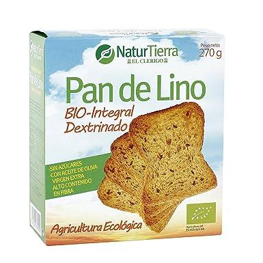 NATUR TIERRA pan de lino caja 270 gr: Amazon.es ...