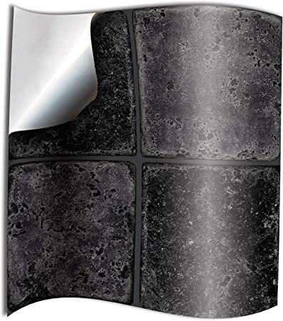 """Black /& Purple Stickers Transfers for Kitchen Bathroom Tiles  6 x 6/"""" Inch 150mm"""