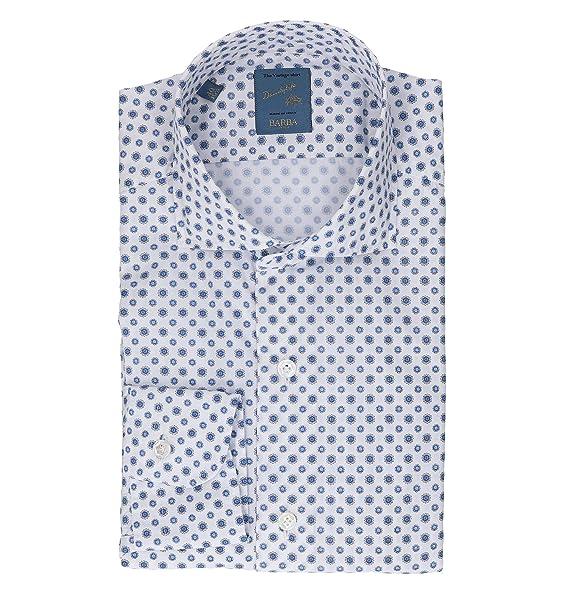 best authentic bd67e 48248 BARBA Camicia Uomo LIU136582101UT26 Cotone Bianco: Amazon.it ...