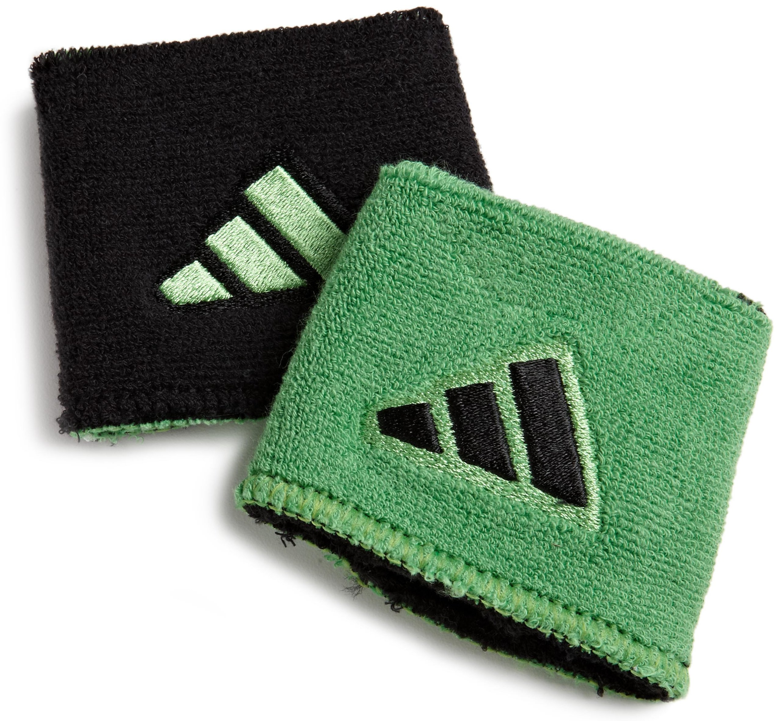 adidas Interval Reversible Wristband, Black/Intense Green / Intense Green/Black, One Size Fits All by adidas (Image #1)