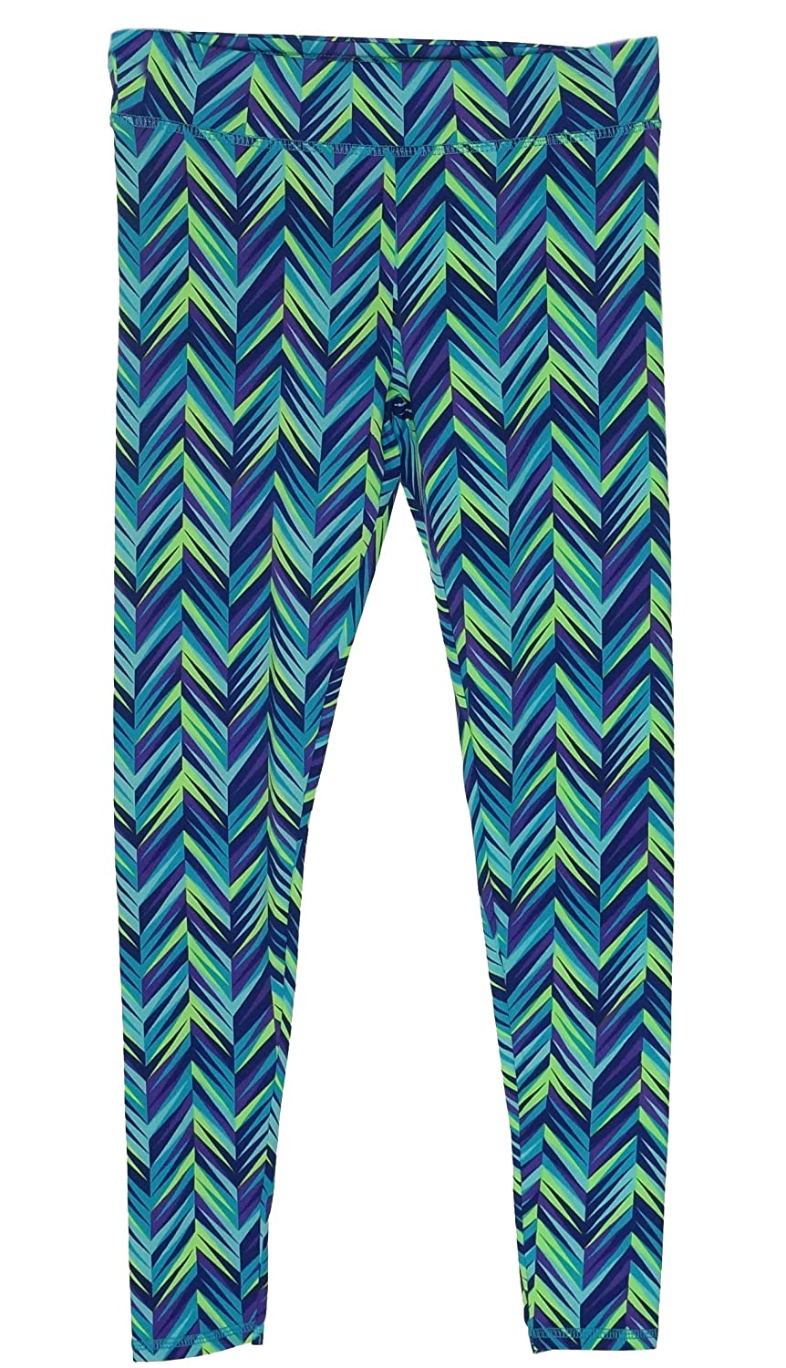 Layer 8 Girls Chevron-Print Leggings Large
