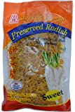 Preserved Shredded Sweet Radish-8 oz by Superior Quality. (Pack of 1) Product of Thailand.