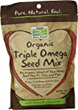NOW Organic Triple Omega Seed Mix, 12-Ounce