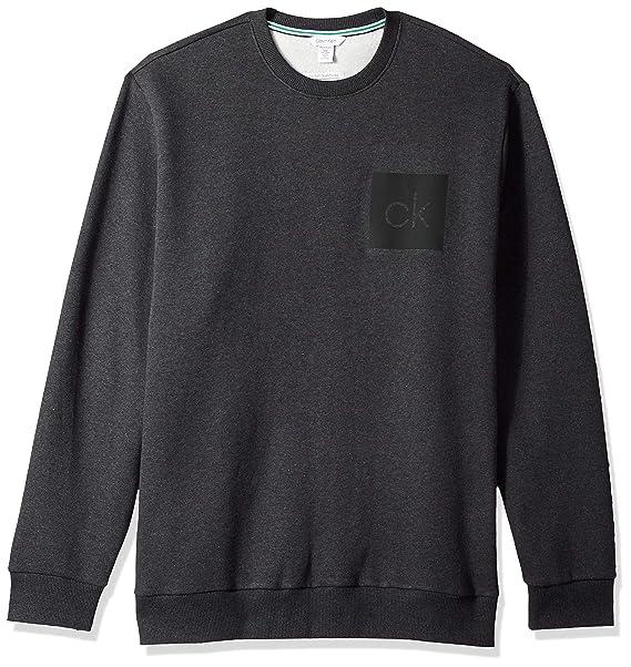 b1ea067889e5 Calvin Klein Mens Standard The Soft-Touch Fleece Sweatshirt  Amazon ...