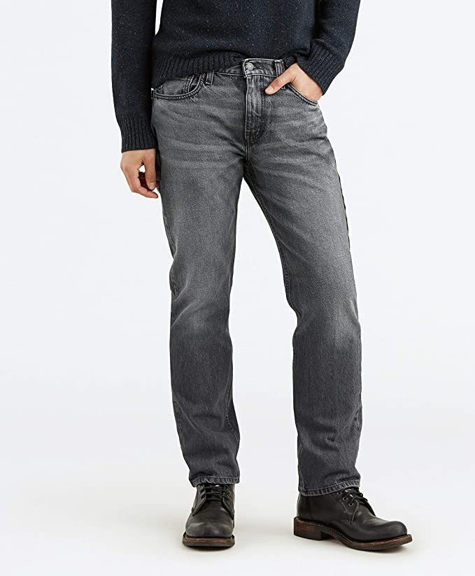 Levi's Men's 514 Straight Fit Stretch Jean, Grey Stucco/warp, 33W x 34L best men's denim jeans