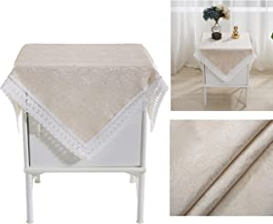 Bettop Square Tablecloth,Nightstand Tablecloth,Side Table Cover,Table Cloth for Bedside Table/ Nightstand/Night Table/Tea Table/End Table/Dressers,Table Dustcover Doilies for Furniture (Rose Gold )
