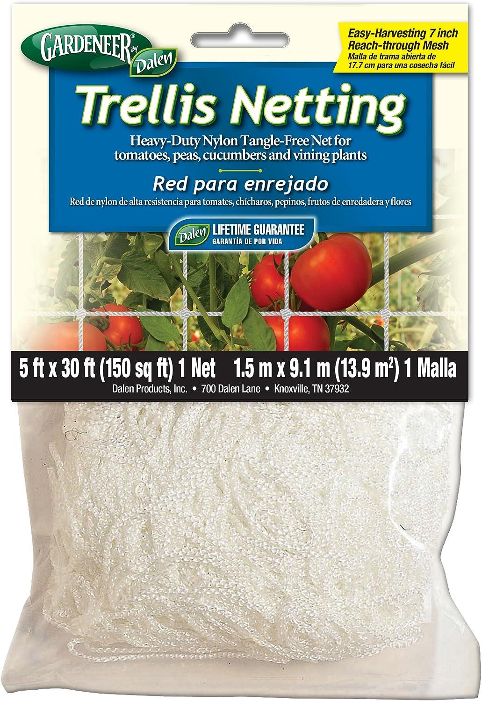 Dalen 100055887 756635701002 Gardeneer by Trellis Heavy-Duty Nylon Tangle-Free Net 5 , 30 ft
