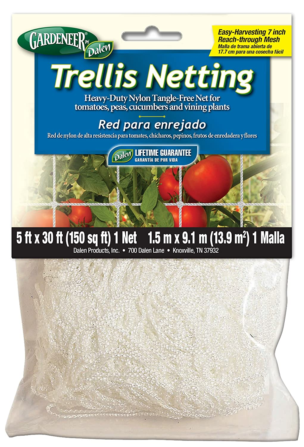 Dalen 100055887 756635701002 Gardeneer by Trellis Heavy-Duty Nylon Tangle-Free Net 5', 30 ft
