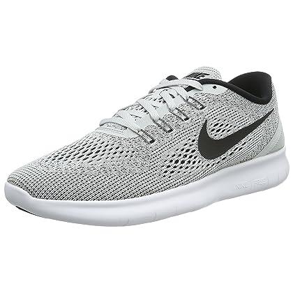 Nike Mens Free RN Running Shoe White/Pure Platinum/Black Size 11.5 M US