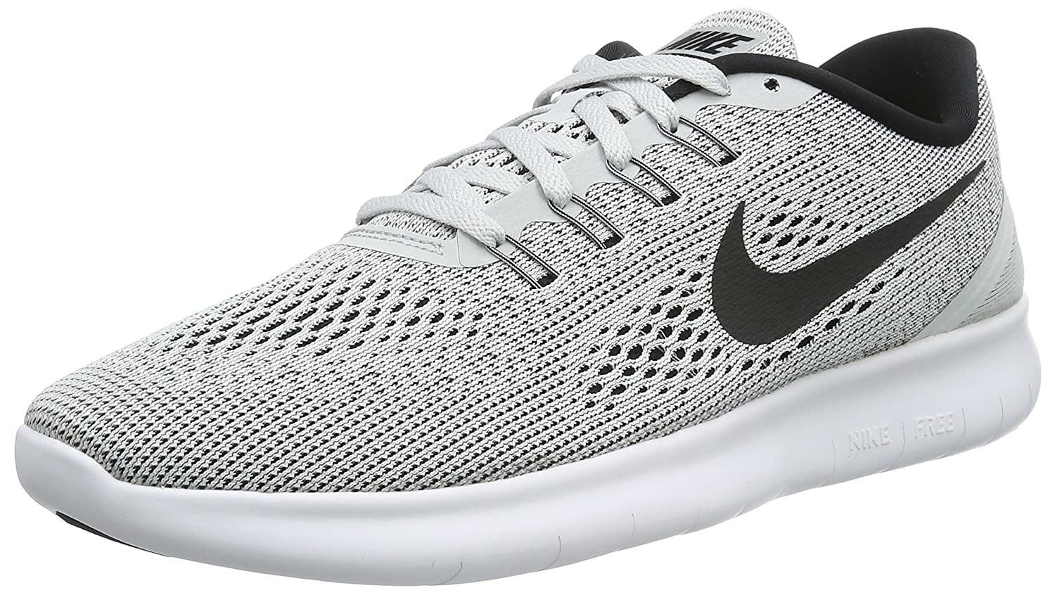 NIKE Men's Free RN Running Shoe B0147SNK34 8.5 D(M) US|White/Pure Platinum/Black