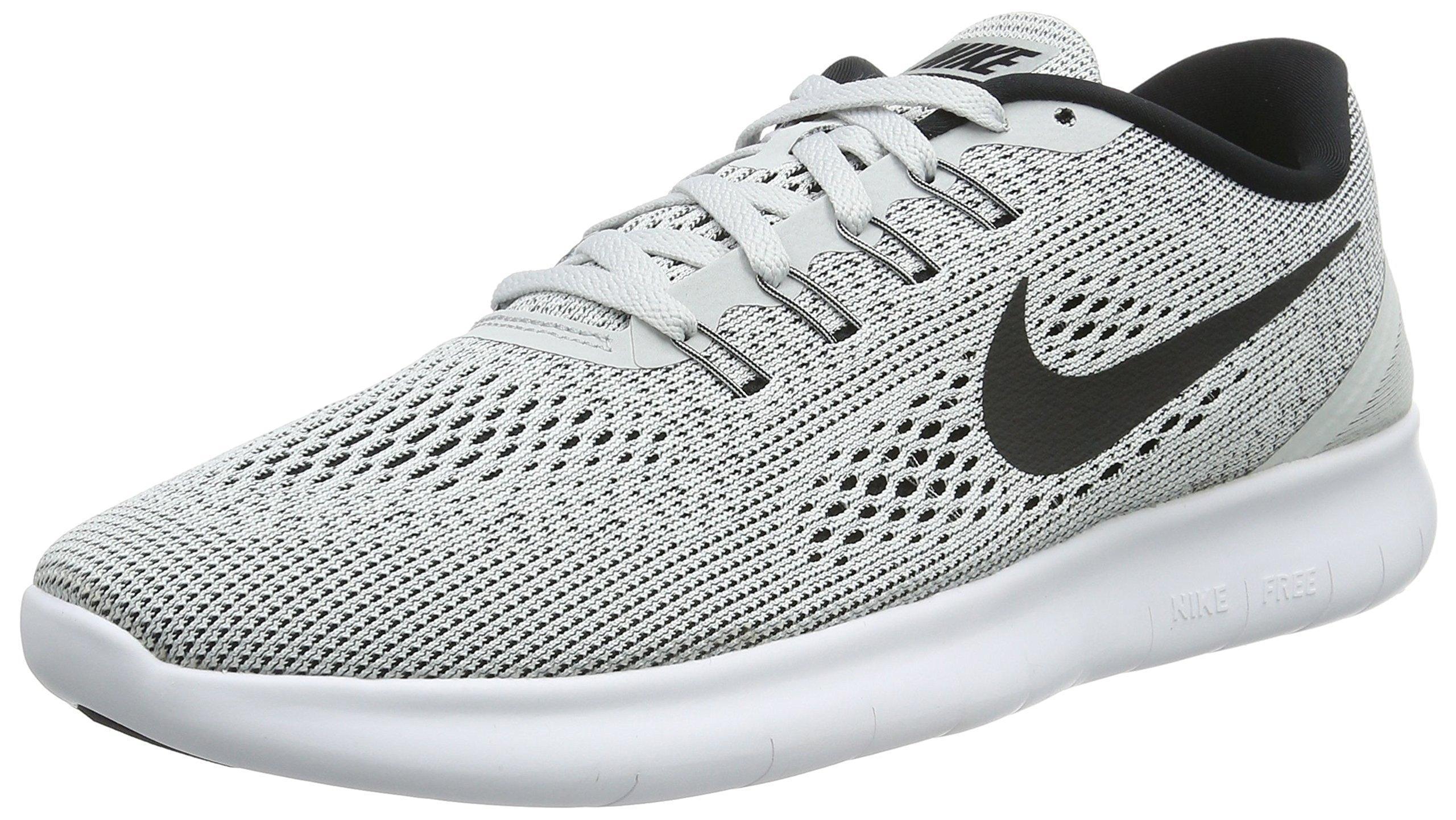 Nike Men's Free RN Running Shoe White/Pure Platinum/Black Size 7.5 M US by Nike (Image #1)