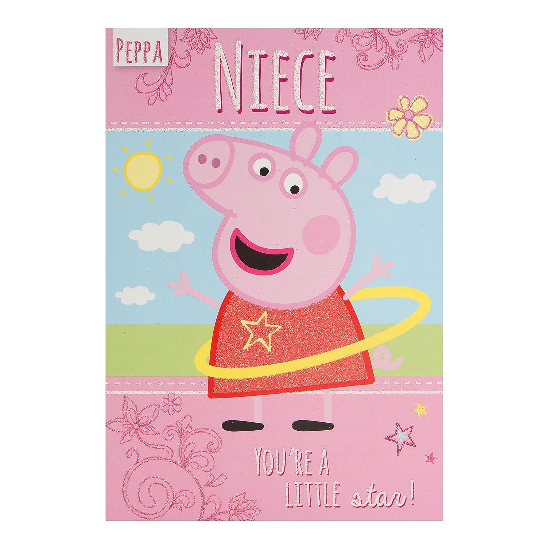 Amazon.com: Peppa Pig sobrina eres una estrella Tarjeta de ...