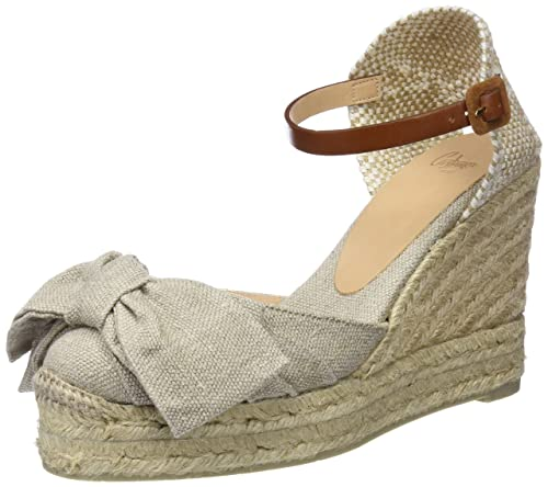 dffcdf3a1f6 CASTAÑER Women s Shoes Carey Bow Beige Wedge Espadrille Spring Summer 2018   Amazon.ca  Shoes   Handbags