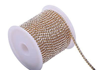 Image Unavailable. Image not available for. Color  KAOYOO 1 Roll 10 Yards  Crystal Rhinestone Close Chain ... 154067d4c302
