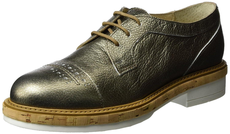 Manas Santorini, Zapatos de Cordones Derby Mujer 40 EU Dorado (Fucile)