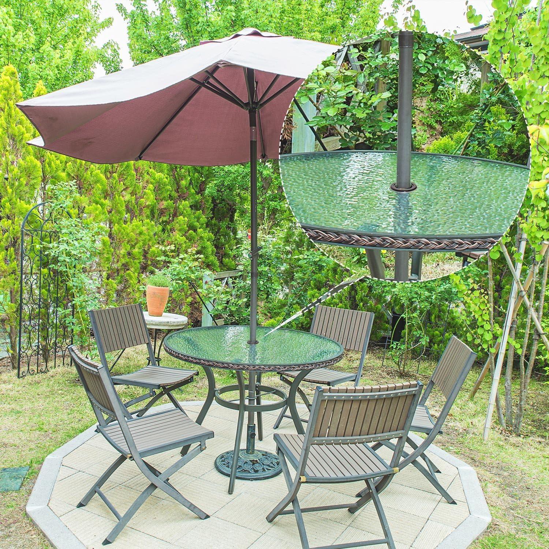Bememo Lot de 2 Anneaux pour parapluies de 5,1 cm et Bouchon de Taille Standard Noir Black 2 Set