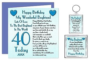 Boyfriend 40th Happy Birthday Gift Set