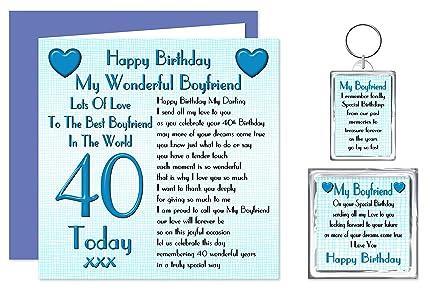 Set de regalo de cumpleaños para 40 cumpleaños para novio ...
