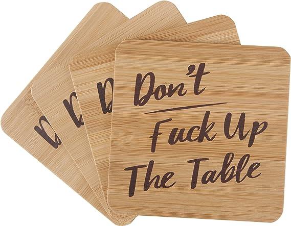 Dont Fuck Up Nanas Table 4 Coaster Gift Set