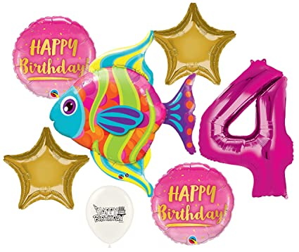 Amazon Fashionable Tropical Fish Ocean 4th Birthday Party