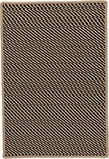 product image for Point Prim Rugs, 4' x 6', Black