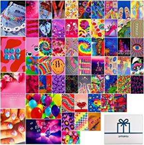 Indie Wall Collage Kit Indie Aesthetic-Contains 6 8.5x11 Inch Posters And 54 4x6 Inch Images-Indie Room Decor