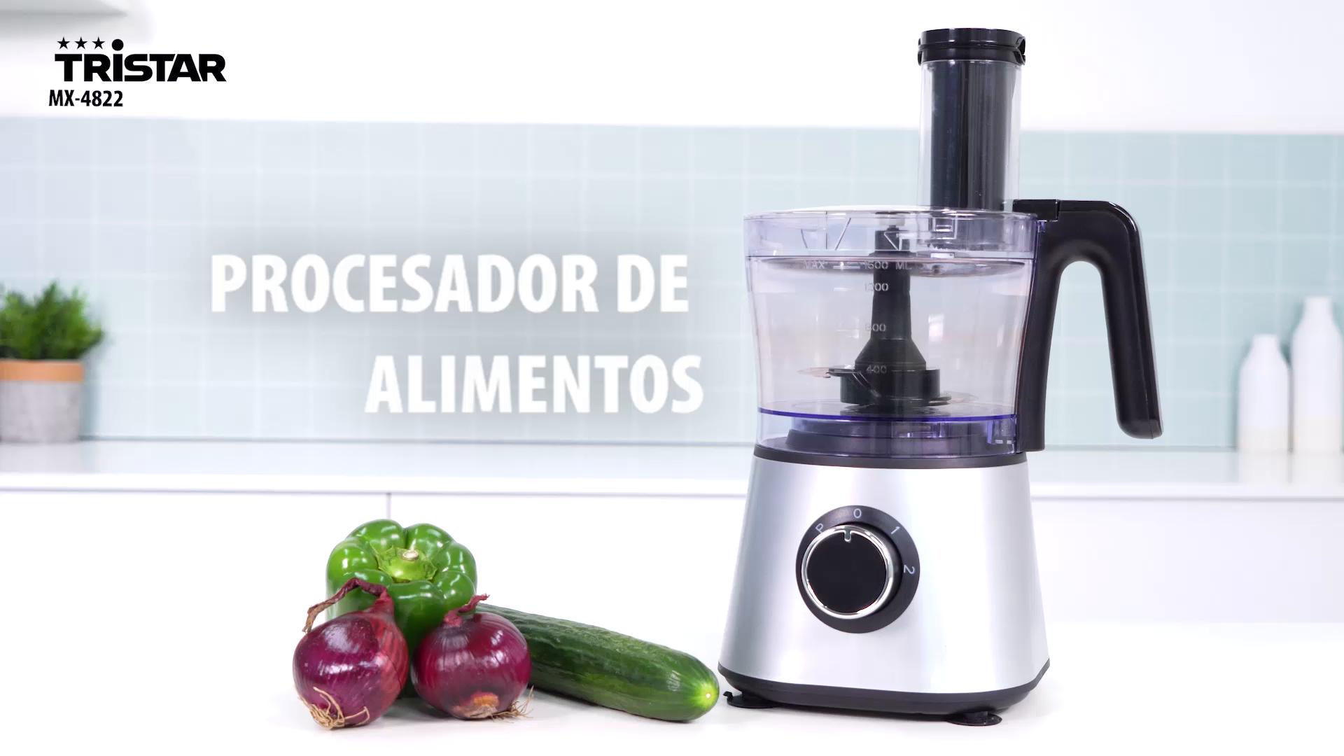 Tristar MX-4822 Robot de cocina, 3 programas de funcionamiento, 1.5 litros de capacidad, 600 W de potencia, Plástico, Plata: Amazon.es: Hogar