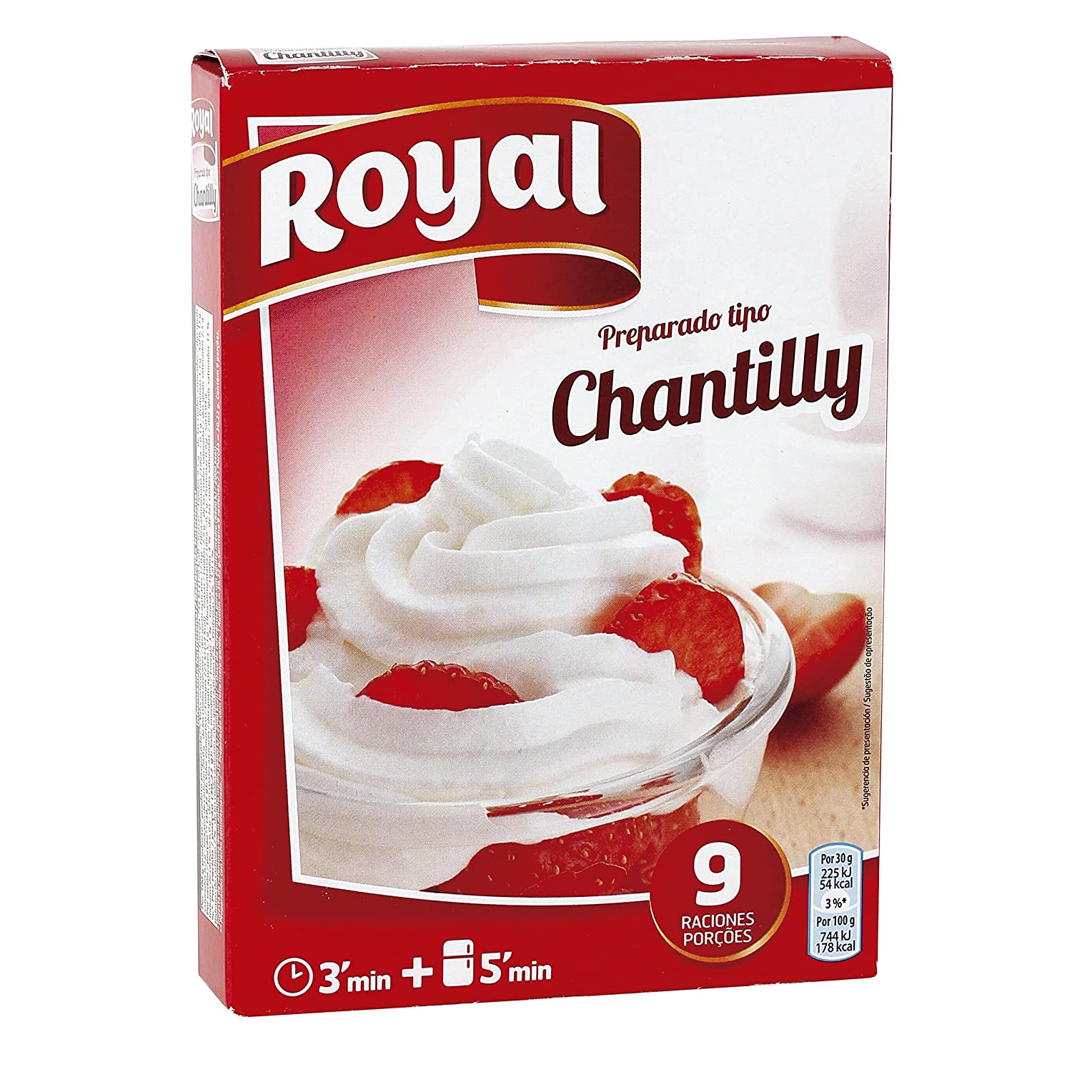 Royal Chantilly - Paquete de 12 x 6 gr - Total: 72 gr: Amazon.es: Alimentación y bebidas