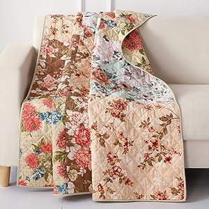 Greenland Home Fashions Briar Throw Blanket, 50 x 60-inch, Natural