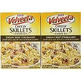 Kraft VELVEETA Cheesy Skillets CREAMY BEEF STROGANOFF Dinner Kit 11.6oz (2 Pack)