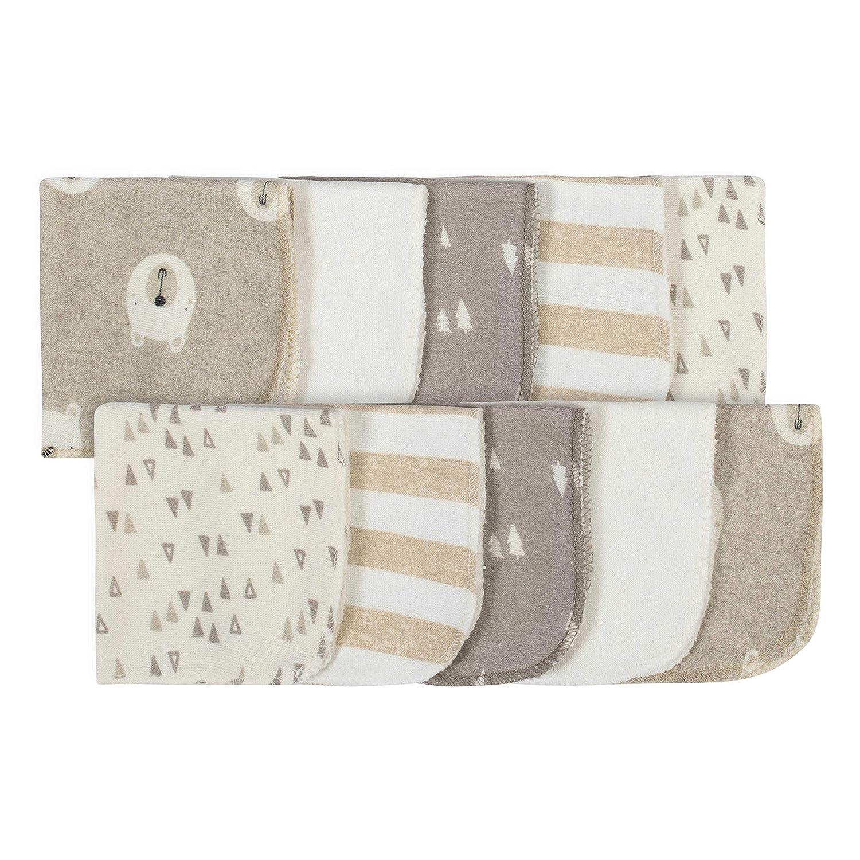 Pink//Ivory One Size Gerber 10-Pack Washcloths