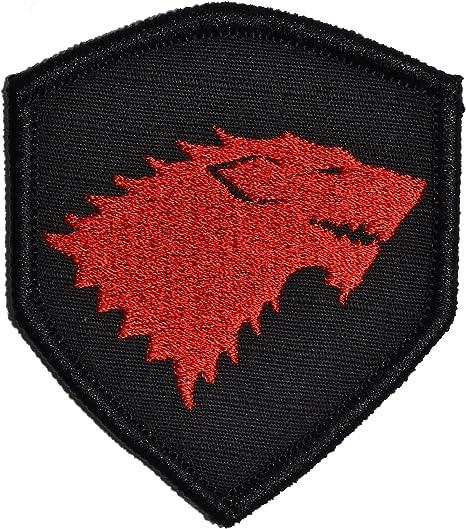 Got Stark Lobo Emblema 3 x 2,5 Shield Militar Patch/parche de velcro la moral – varios colores: Amazon.es: Juguetes y juegos