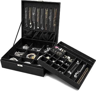 Details about  /Women Jewelry Box Organizer  Holder Accessories Container Showcase *