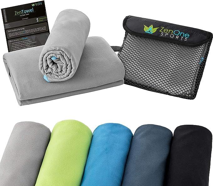 Zentowel Mikrofaser Handtuch I Leicht Saugfähig I Premium Fitness Handtuch I Ideal Als Sporthandtuch Reisehandtuch Strandhandtuch Bekleidung
