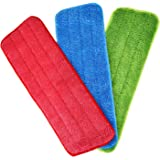 Shappy Mop Microfiber Cleaning Pads for Spray Mops and Reveal Mops Washable 16.5 x 5.5 Inch, 3 Pieces