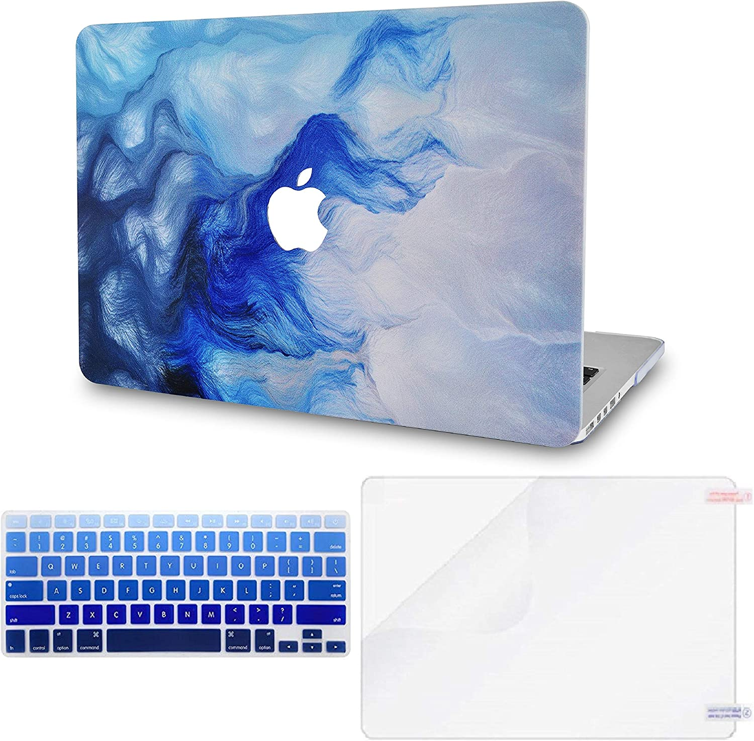 """LuvCase 3 in 1 LaptopCase forMacBookAir 11"""" A1465 / A1370HardShellCover, Keyboard Cover & Screen Protector(Mist 12)"""