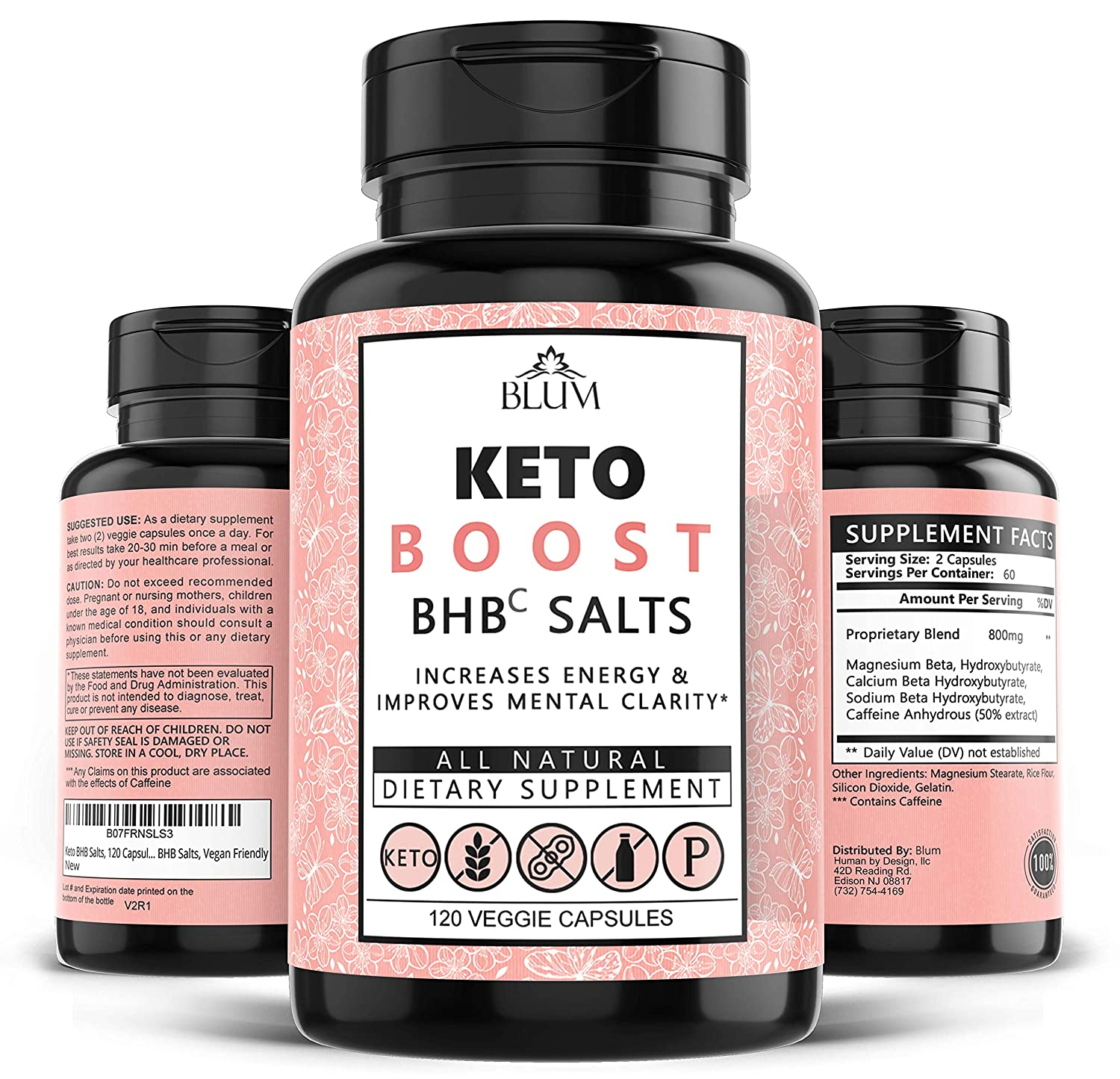 Keto Pills Weight Loss Supplements Keto Diet Pills for Ketosis Advanced BHB Exogenous Ketones 800mg Capsules for Rapid Fat Burn, Suppress Appetite, Increase Metabolism, Energy and Mental Focus 120ct