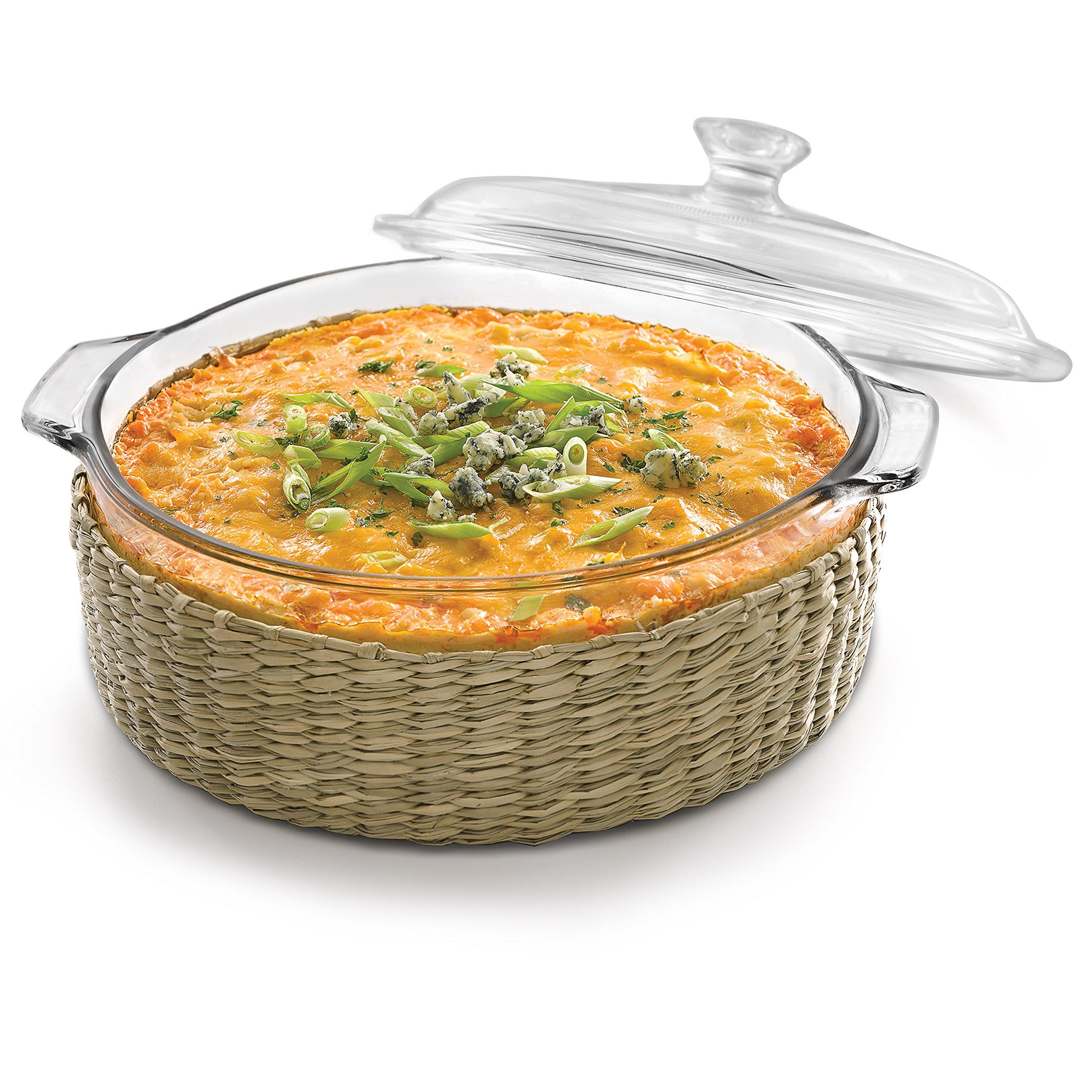 Libbey Baker's Basics 2 quart Glass Casserole with Basket