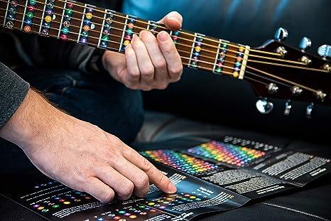 Pegatinas para guitarras y partituras, incluye diagrama con ...