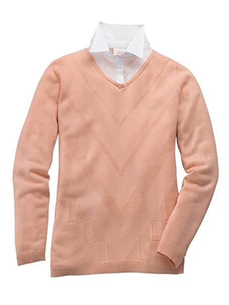 e00561f35269 Paola Damen 2in1 Pullover mit Bluseneinsatz  Amazon.de  Bekleidung