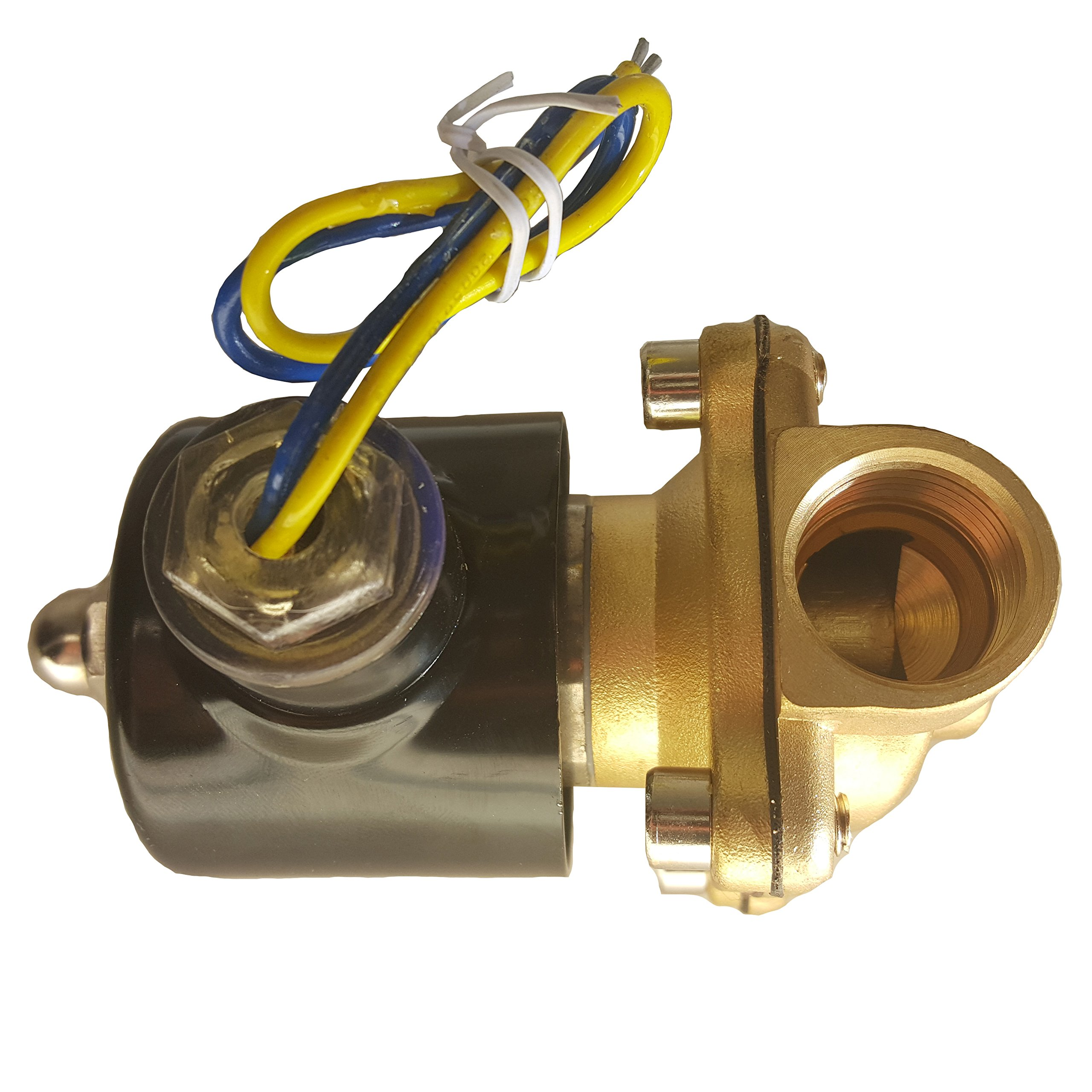 HFS 110v Ac or 12v Dc Electric Solenoid Valve Water Air Gas, Fuels N/c - 1/4'', 1/2'', 3/4'', 1'' NPT Available (12V DC 1/2'' NPT) by HFS (Image #4)